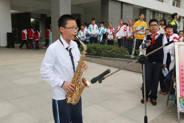 杨智广同学吹奏陶笛曲《天空之城》